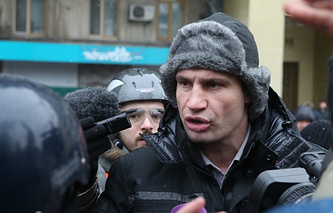 Leader of UDAR opposition party Vitaly Klitchko