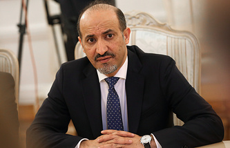 Leader of the National Coalition of Syrian Revolutionary and Opposition Forces Ahmad al-Jarba