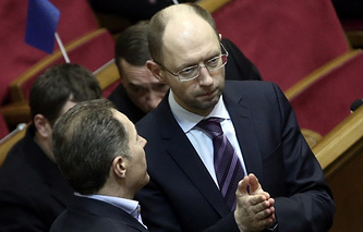 Batkivshchyna faction leader Arseniy Yatsenyuk