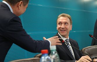 Igor Shuvalov (right)