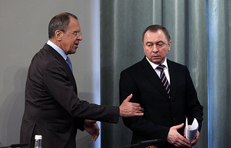 Sergei Lavrov and Vladimir Makei