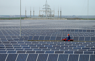 Solar power station in Crimea