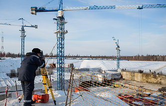 Vostochny spaceport construction site