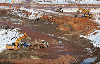Diamond extraction site in Arkhangelsk region