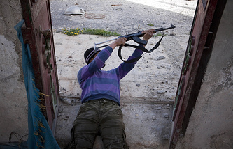 Militant fighter in Syria