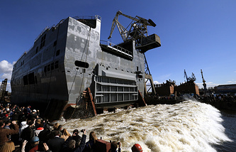 Navy Mistral amphibious assault ship 'Sevastopol' in St. Petersburg