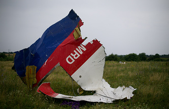 At the site of the crash