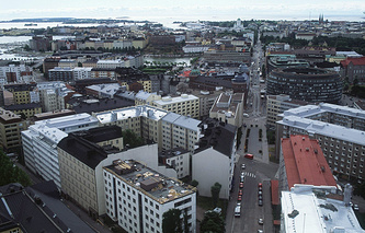 A view of Helsinki, Finland's capital