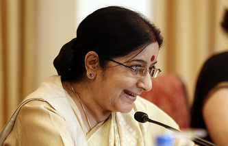 India's Minister for External Affairs Sushma Swaraj