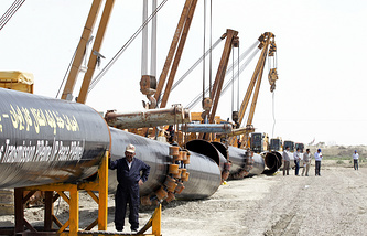 Gas pipeline construction in Iran