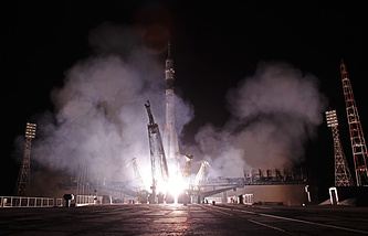 Soyuz rocket launch (archive)