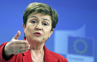 European commissioner for budget and human resources Kristalina Georgieva