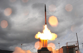 The THAAD missile defense system fired