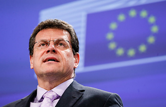 EC energy commissioner Maros Sefcovic