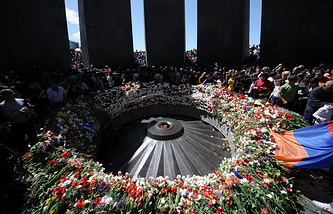 Monument to the victims of mass killings by Ottoman Turks in Armenia