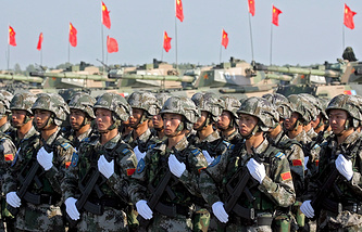 Russian-Chinese joint military drills in 2007 (archive)