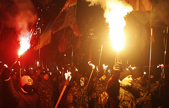 Nationalists march in Ukraine