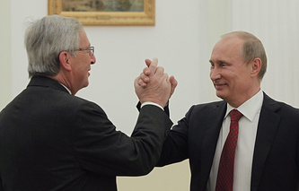 Vladimir Putin and Jean-Claude Juncker