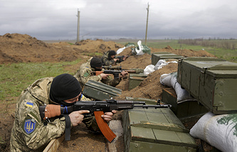 Ukrainian soldiers in Donbas