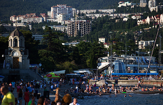 Yalta, a resort city in the Crimean peninsula