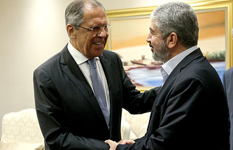 Sergey Lavrov and Khaled Mashaal