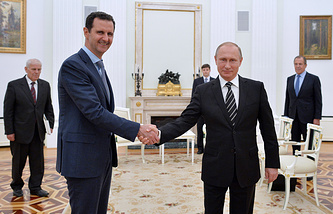 Bashar Assad and Vladimir Putin