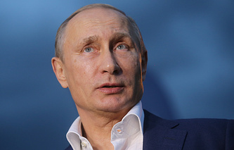 Russian President Vladimir Putin at a meeting of the Valdai International Discussion Club