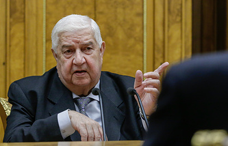 Syrian Foreign Affairs Minister Walid Muallem
