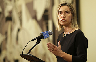 EU foreign policy chief Federica Mogherini