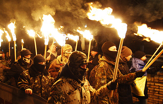 Nationalists march in Kiev (archive)