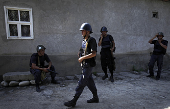 Kyrgyz Interior Ministry forces soldiers