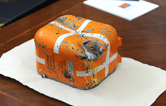 Flight data recorder from the Russian Su-24 which was downed by Turkey