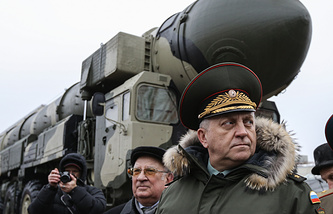 Russia's Strategic Missile Forces commander Colonel-General Sergey Karakayev