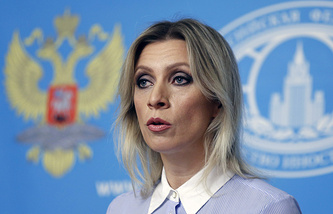 Foreign Ministry official spokesperson Maria Zakharova
