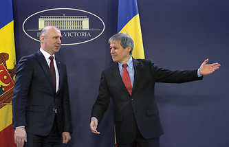 Dacian Ciolos and Pavel Filip
