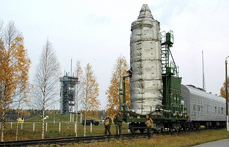 Rokot carrier rocket transportation to the cosmodrome