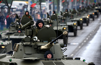 A military parade rehearsal in Minsk, Belarus (archive)