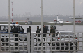 Police at the airport in Rostov-on-Don