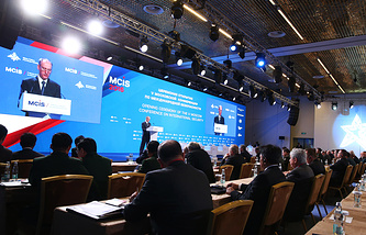 Russian Security Council Secretary Nikolay Patrushev at the 5th Moscow International Security Conference