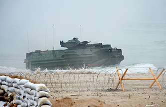 NATO military exercise in Ustka, northern Poland
