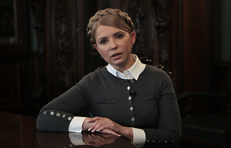 Ukraine's leader of the Batkivshchina faction Yulia Timoshenko