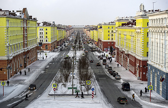 Norilsk, a city in Russia's Krasnoyarsk region