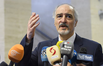Syria's Ambassador to the United Nations Bashar Jaafari