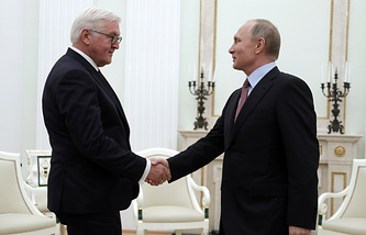 Presidents of Germany and Russia, Frank-Walter Steinmeier and Vladimir Putin