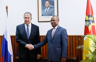 Russian and Mozambican Foreign Ministers, Sergey Lavrov and Jose Pacheco