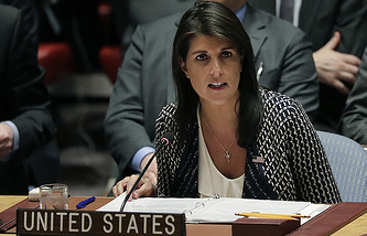 US Permanent Representative to the UN Nikki Haley