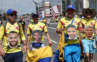 Team Colombia's fans
