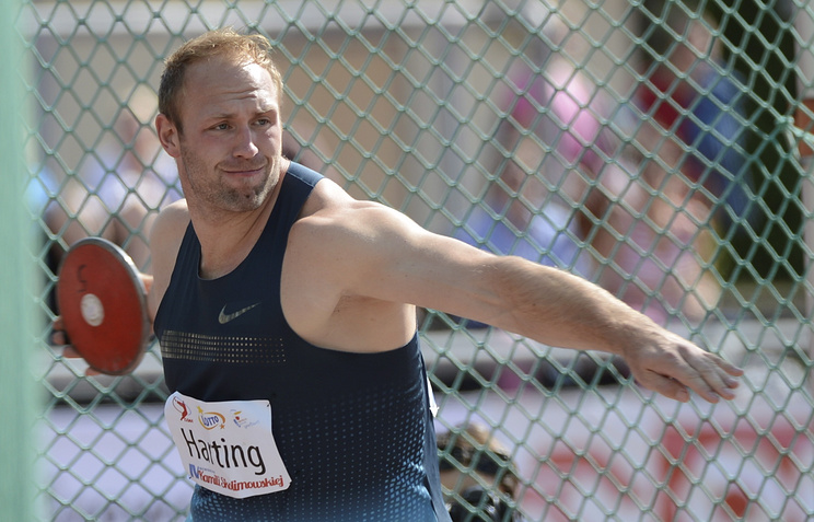 German Olympic champion in discus throwing Robert Harting