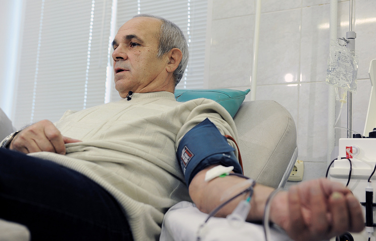 Pensioner Yuri Martynov donated 200 liters of blood over 40 years