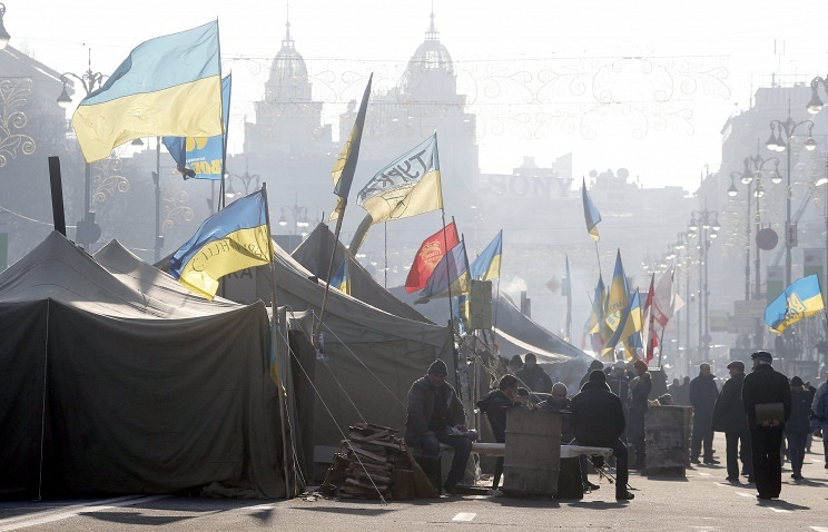 Opposition tent camp in Kiev